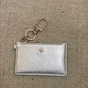 Tory Burch Silver Keychain Wallet